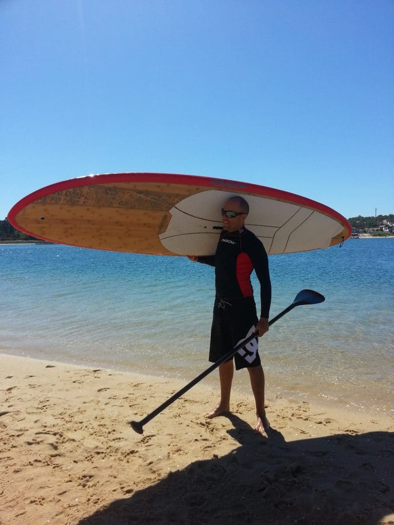 comment tenir planche stand up paddle