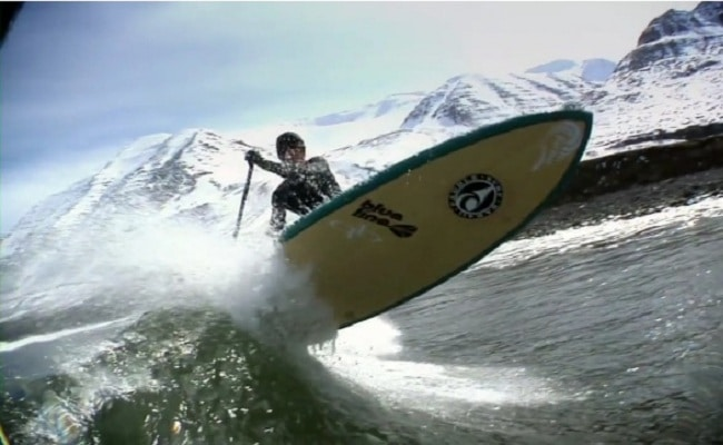 Faire du stand up paddle en Iceland c'est cool mais froid !