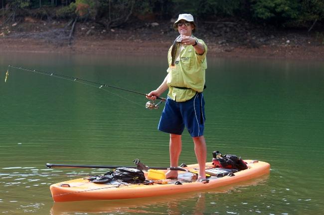 Tout savoir sur la pêche en stand up paddle