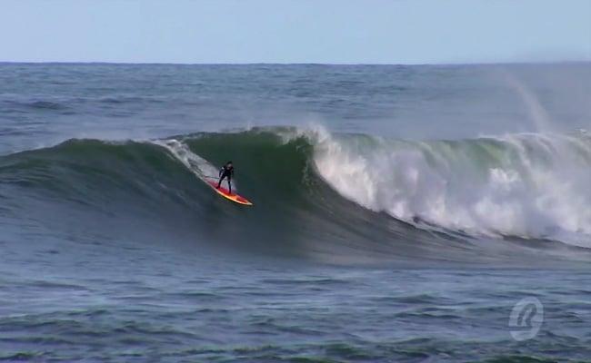 Vidéo d'Antoine Delpero et son Sup 9'6 à Guéthary