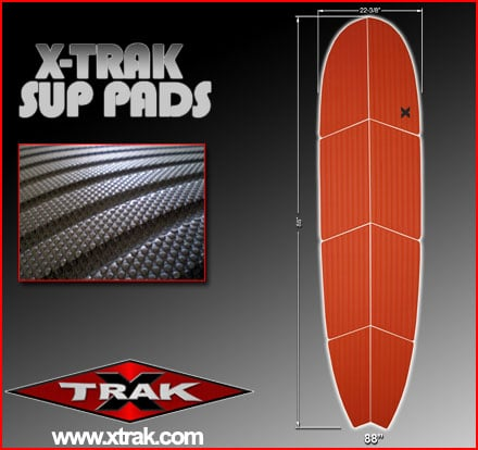 X-Trak stand up paddle pads made in USA