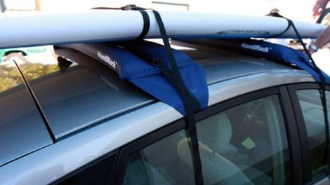 Barres de toit gonflables HandiRack, idéales pour votre stand up paddle