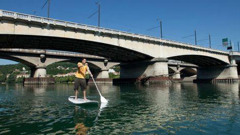 Descente du Rhone et traversée de Lyon en Sup