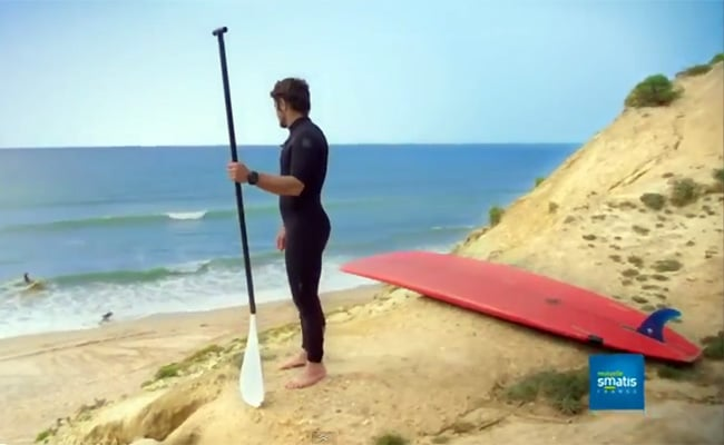Bixente Lizarazu en stand up paddle pour Smatis
