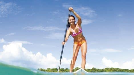 Présentation de Talia Gangini, le stand up paddle au féminin