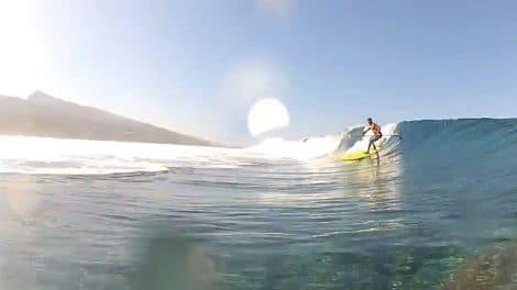 Stand up paddle à Tahiti en vidéo