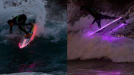 Des planches de surf avec des Leds par le team Pukas