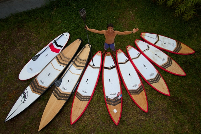 F-one, trip stand up paddle à Tahiti avec de superbes images