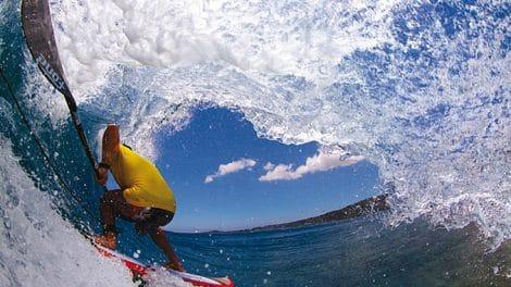 F-one, trip stand up paddle à Tahiti