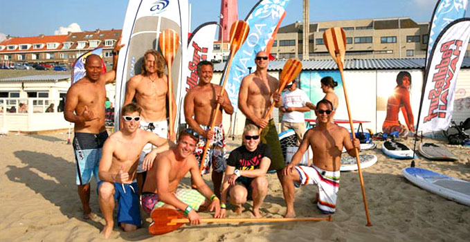 Hilman Stand up paddle Paddles, une rame en bois