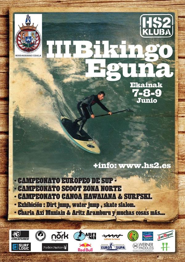 Bikingo Eguna 2013 stand up paddle contest
