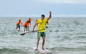 Oléron Island Stand Up Paddle Challenge duel hawaiien chez les hommes