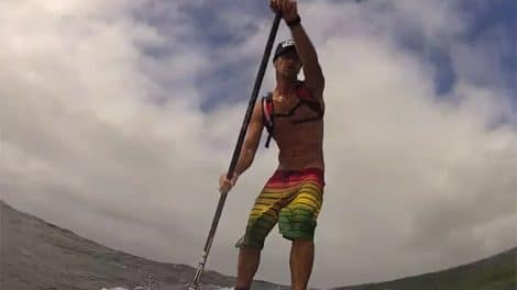 Tahitian stand up paddle downwinders