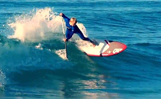 Vidéo du prodige Kai Bates en stand up surf paddle