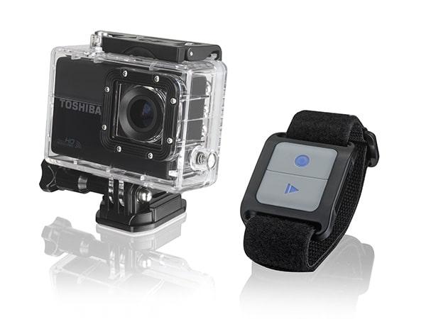 La caméra embarquée Toshiba Camileo X-Sports