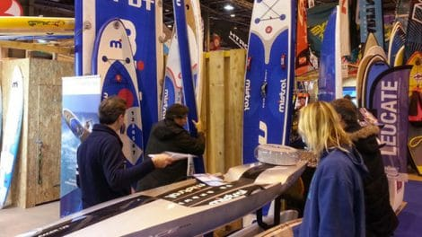 Mistral Stand up paddle M2 Race Salon Nautique Paris 2013
