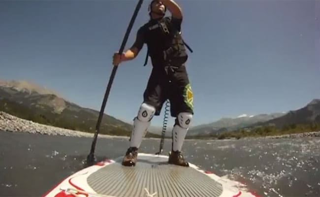 Stand up paddle en eau vive sur l'Ubaye