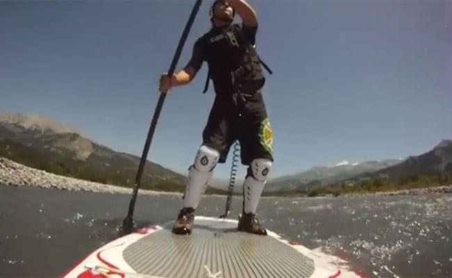 Stand up paddle en eau vive sur l'Ubaye