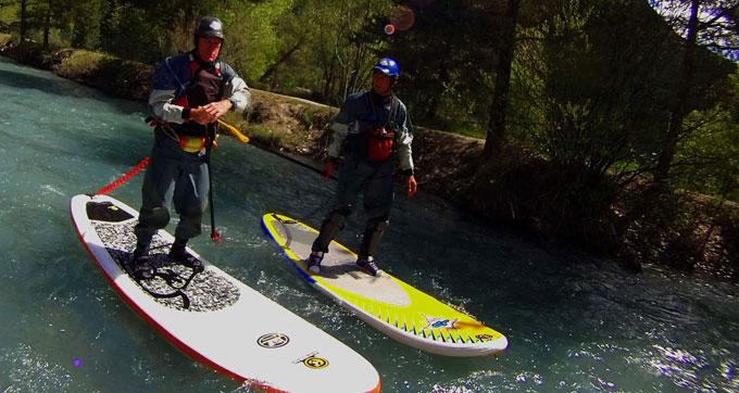 Vidéo stand up paddle en eau vive sur la rivière Ubaye