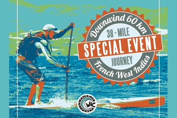 Ze Caribbean Race 2014, 60 km downwind stand up paddle