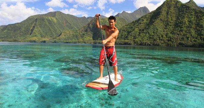 La vidéo Patrice Chanzy stand up paddle Pacifique