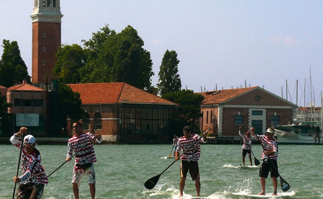 Faire du stand up paddle à Venise !