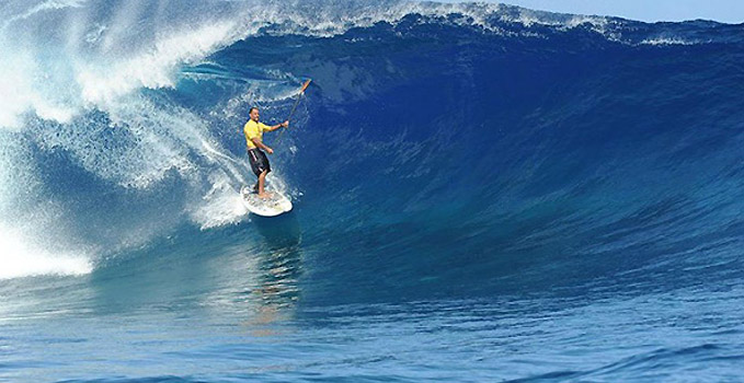 Stand up paddle et grosses vagues !