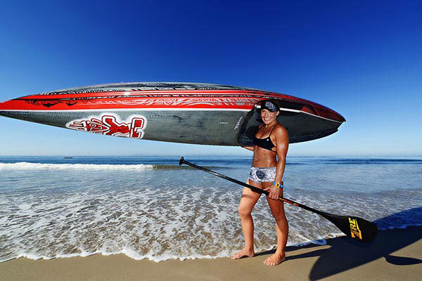 Les filles sexy en stand up paddle