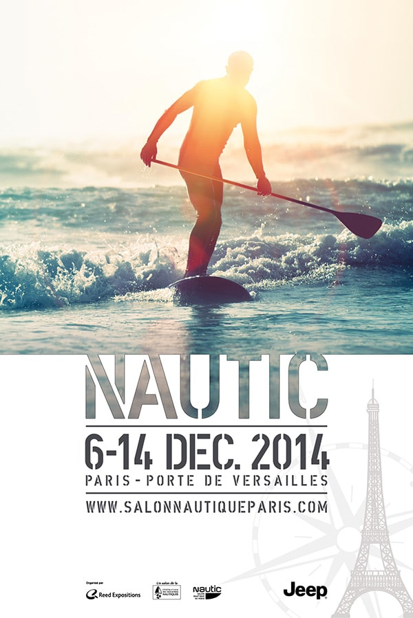Le Nautic 2014 couse stand up paddle affiche