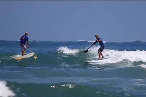 Stand up paddle surf filmé par un drome !