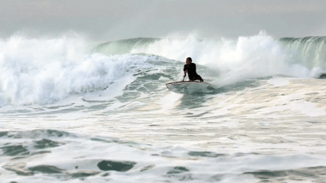 Manu Portet stand up paddle Pays Basques