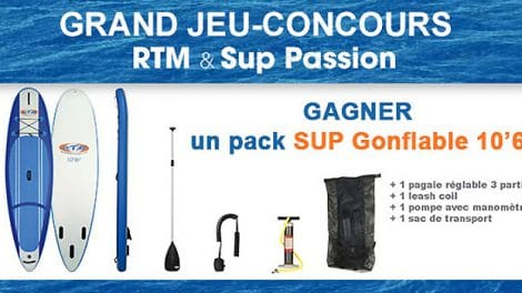 Gagnez un stand up paddle RTM 10'6 gonflable