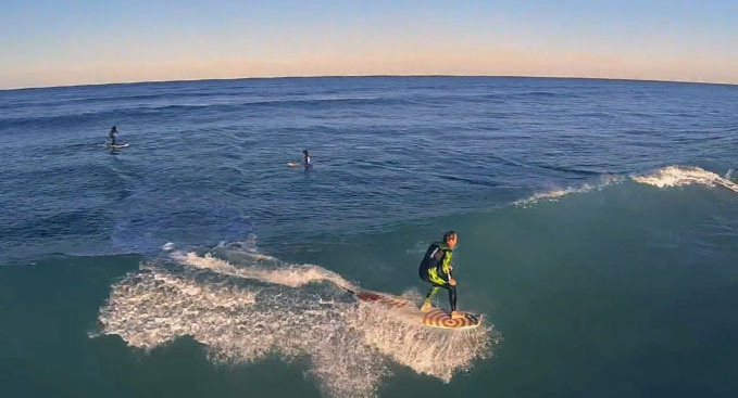 Vidéo stand up paddle avec un drone made in USA