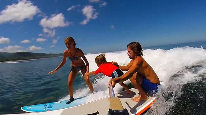 Vidéo Surf is life 3 avec Fred Compagnon et sa petite famille