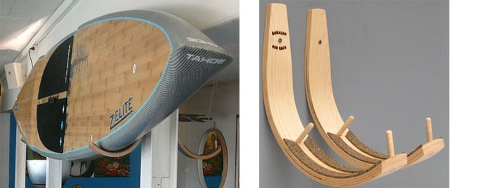 Bamboo Blonde Stand Up Paddle Board rack