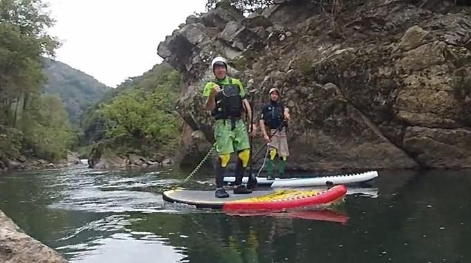 Session stand up paddle en eaux vives au Pays Basque
