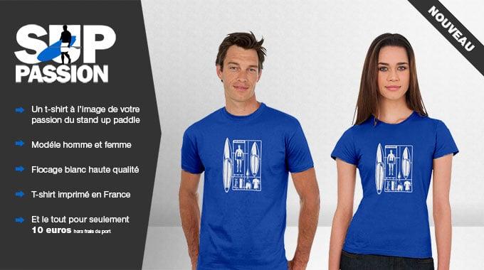 Nouveau, le t-shirt stand up paddle Sup Passion est arrivé