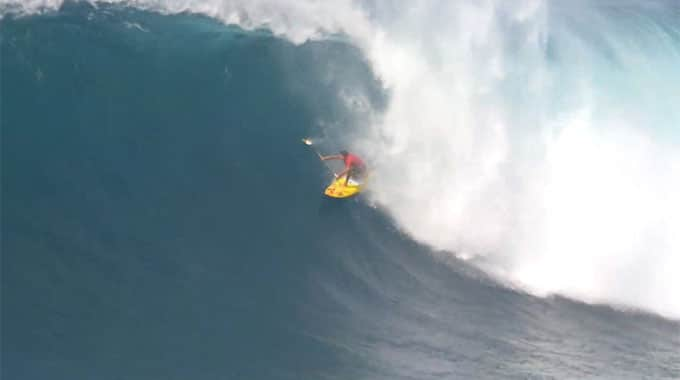 Kai Lenny à Jaws en sup, XXL Big Wave Awards