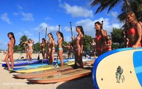 Les candidates de Miss Stand up paddle Hawaï