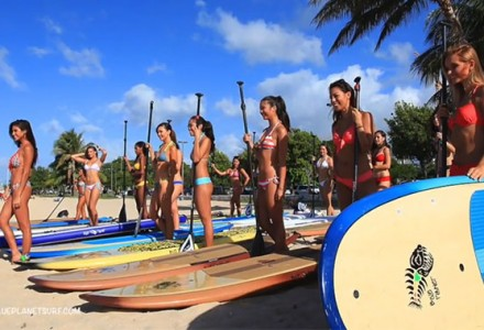 Les candidates de Miss Stand up paddle Hawaï