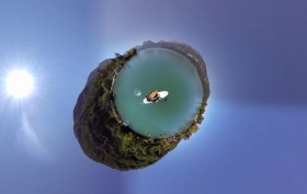 Incroyable vidéo immersive à 360° de stand up paddle