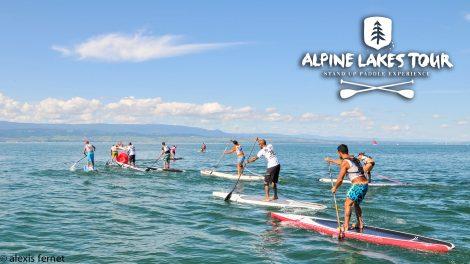 Deuxième étape sur le lac d'Aiguebelette de l'Alpine Lakes Tour