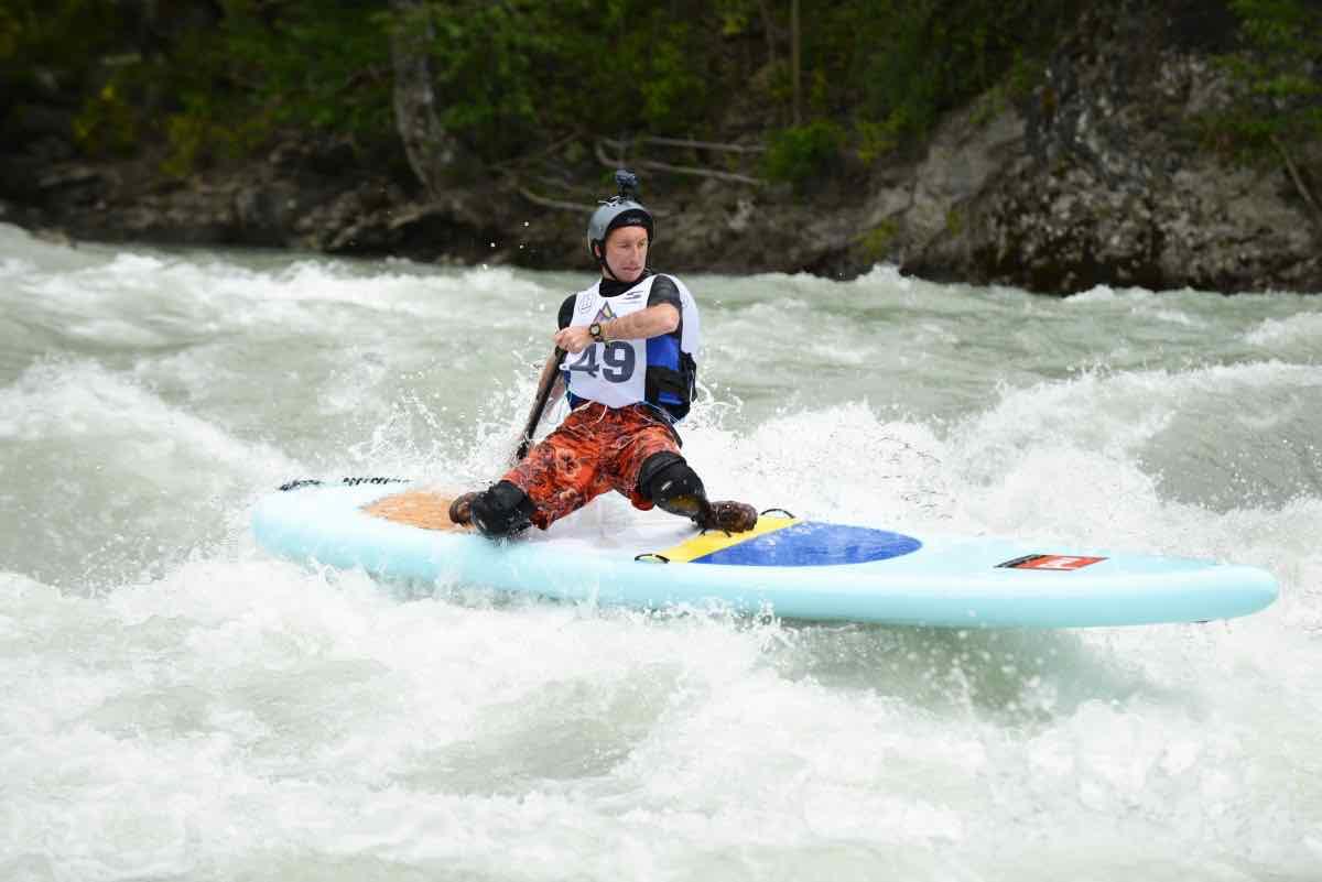 Gaétan Séné, ambassadeur au Sup River Tour de l'Outdoormix
