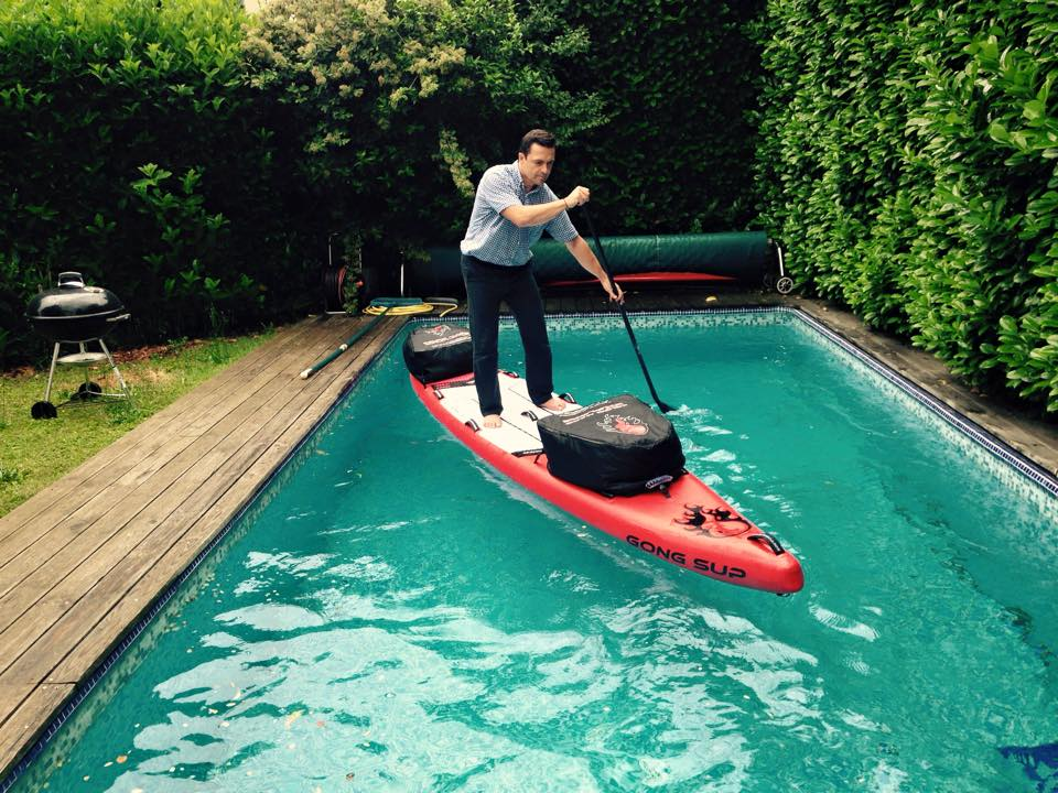 Jean-Paul Averty a rallié Royan depuis Toulouse en stand up paddle