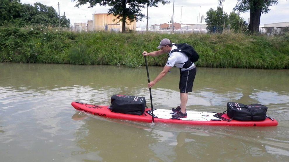 Jean-Paul Averty a rallié Royan depuis Toulouse en stand up paddle