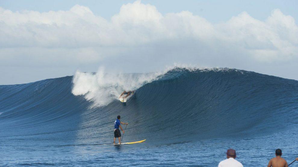 Kay Lenny éliminé du Sapinus Pro à Tahiti