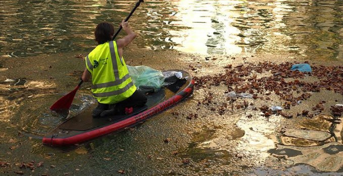 Parade stand up paddle watertrek paris plage stand up paddle passion le web magazine du sup - Piscine plage paris asnieres sur seine ...