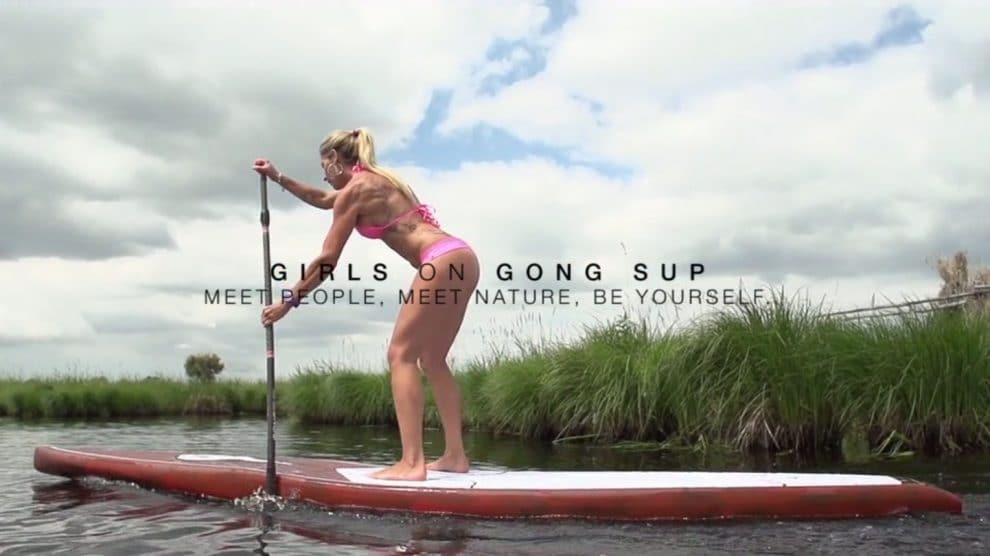 Stand up paddle avec les filles de chez Gong