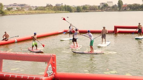Le Sup Polo, la nouvelle discipline du stand up paddle