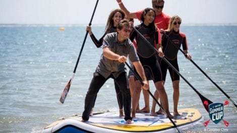 Trois Miss France en stand up paddle à la Summer Cup de la Baule